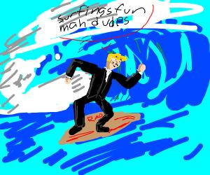 Teenage surfer donald trump