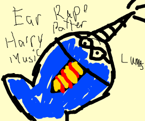Harry potter narwhal (horn is wand)