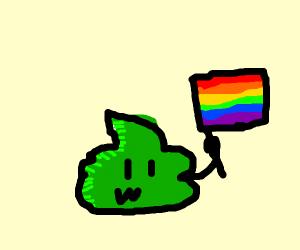 Gay green poop