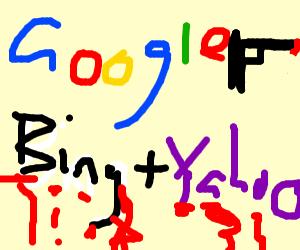Google kills Yahoo and Bing