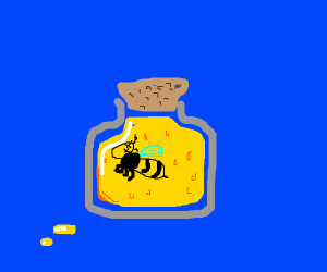 a bee in honey