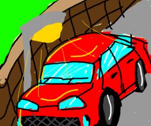 Car on street