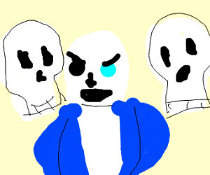 Sans summons floating skulls