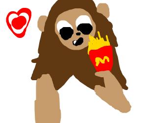 lion likes fast food