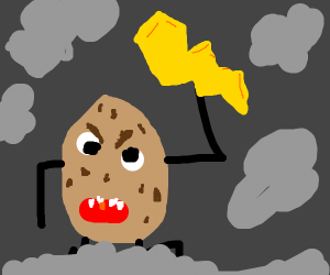 Evil potato lightning god