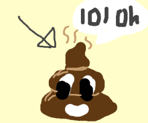 A smiley poo saying lol oh