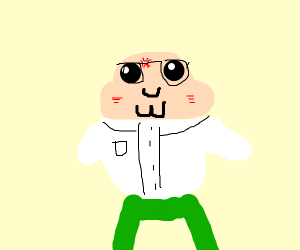 Peter Griffin but cute and bald