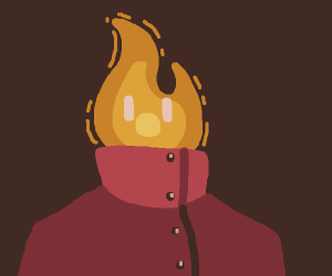 Flame wearing red coat