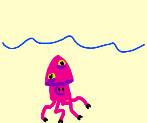 A swimming squid pig xD