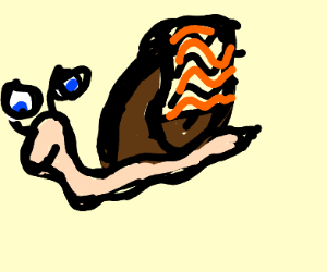 Snail with cosmetic blanket