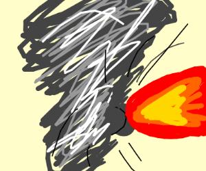 Tornado that farts fire