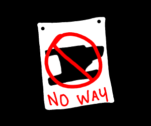 Absolutely no anvils poster