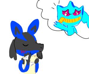Blue fox has a crush on blue ghost