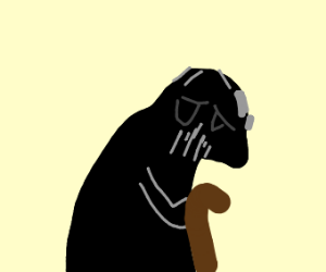 Darth Vader is old