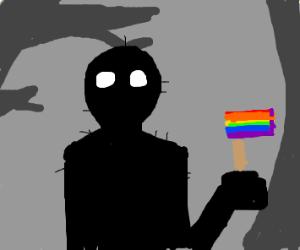 shadow figure is gay