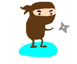 a ninja made of poop