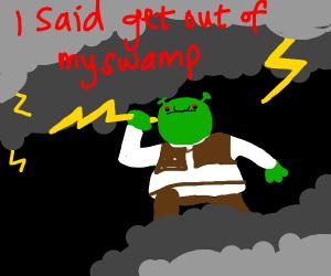 Shrek became Zeus