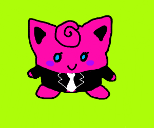 Polite jigglypuff in a suit