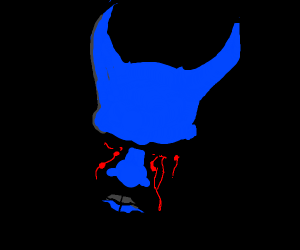 blue devil bleeding his eyes