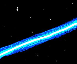 A laser through space