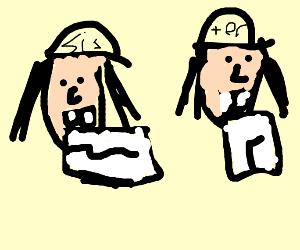 sisers cuting alredy cut paper