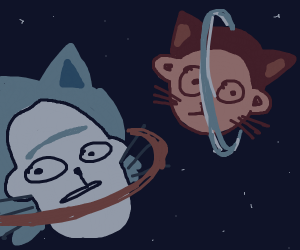 Rick and Morty Head planets but they're cats