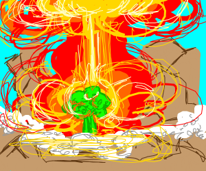 Either burning broccoli OR nuclear explosion?