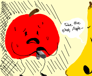 apple forced to kill his banana friend