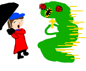 Mary Poppins meets a Catholic bug monster in