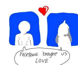A facebook couple