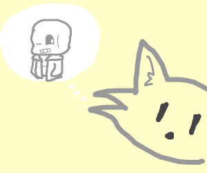 Furry thinking about sans