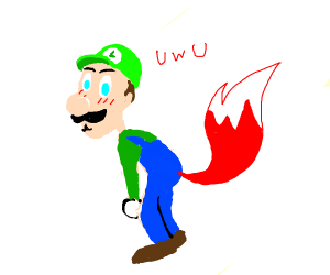 Luigi is becoming a furry