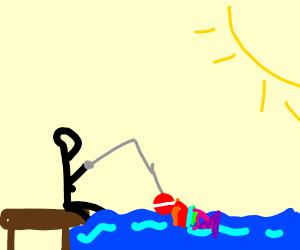 fishing for rainbow fish