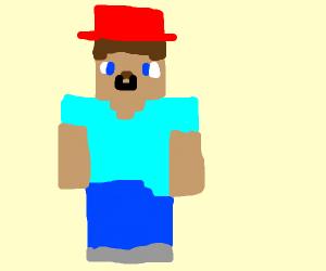 steve wearing red hat nods