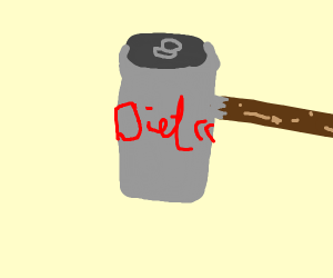 diet coke erupting from the side of the can