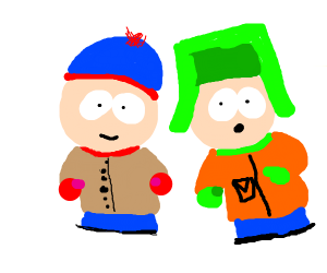 Kyle and Stan from South Park