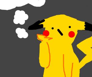 Pikachu thinking