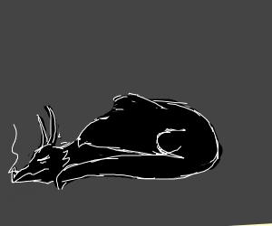 a sleeping dragon