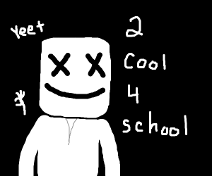 Marshmellow is 2 cool 4 school