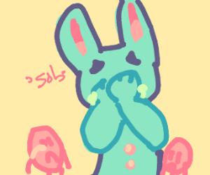 Sad easter bunny