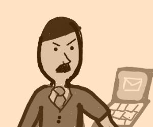 Adolf Hitler getting emails/messages