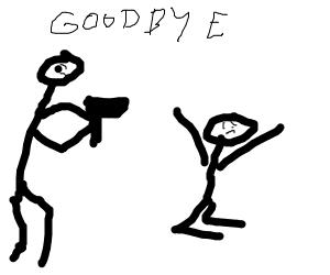 Guy is saying definitely goodbye