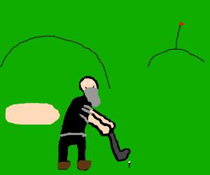 100 year old man plays golf