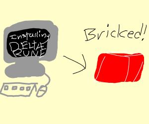 Deltarune bricked my PC :(