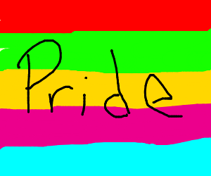 Gay Pan Pride flag.