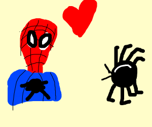 spider man and the spider go on a date