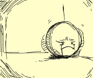 Sad lonely ball