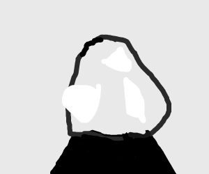 A globe in black and white