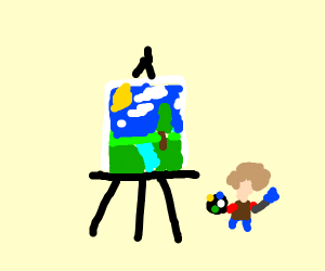 Very tiny bob ross