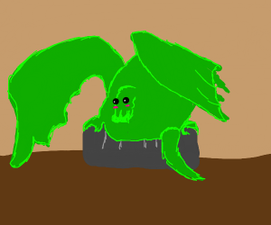 Kawaii Big Dragon sitting on couch